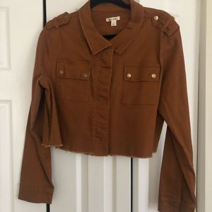 Francesca's cropped utility jacket